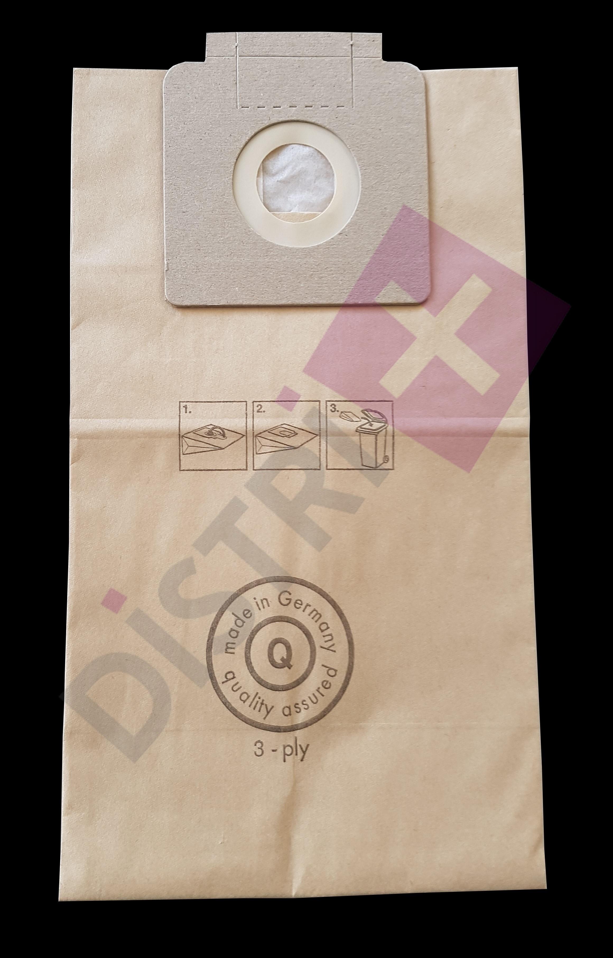 Sacs papier pour aspirateur Karcher T10/1 et T17/1 - La pochette de 5 sacs papier