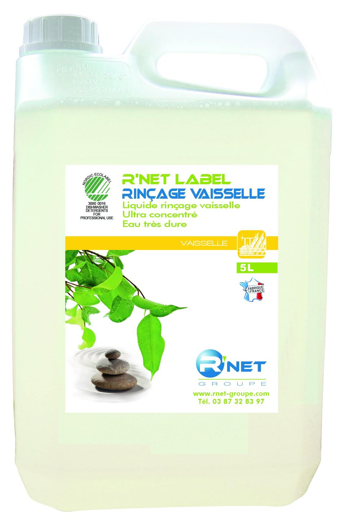 R'net label rinçage vaisselle concentré machine 5L