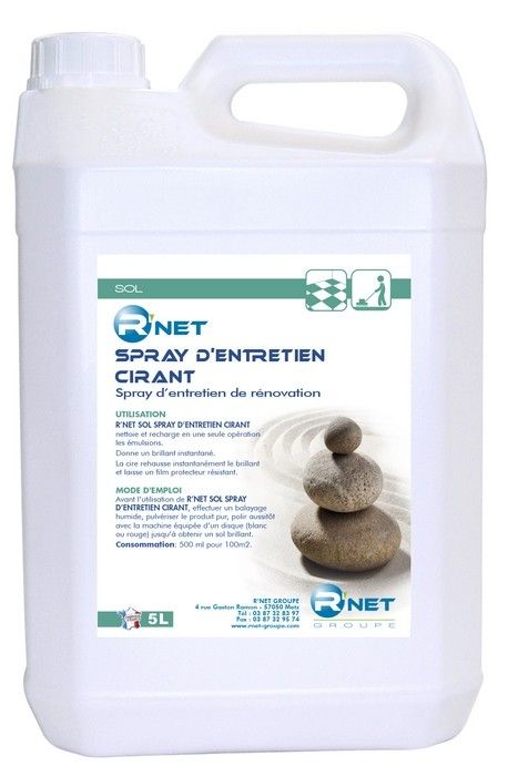 R'net sols spray d'entretien cirant - 5L