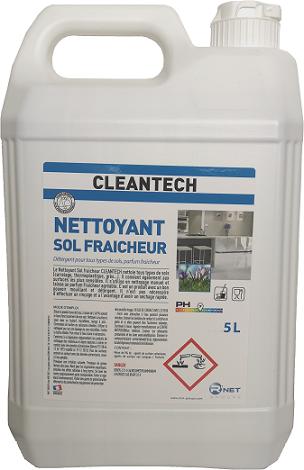 CLEANTECH  Nettoyant Sol Fraicheur 5L