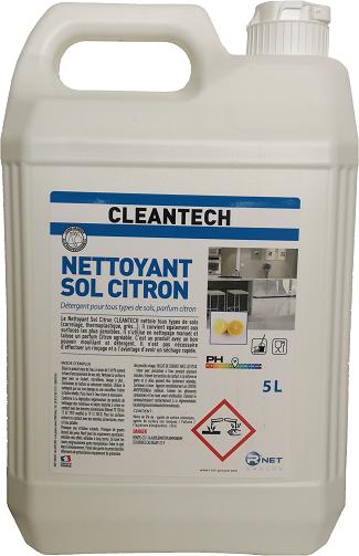 CLEANTECH  Nettoyant Sol Citron 5L