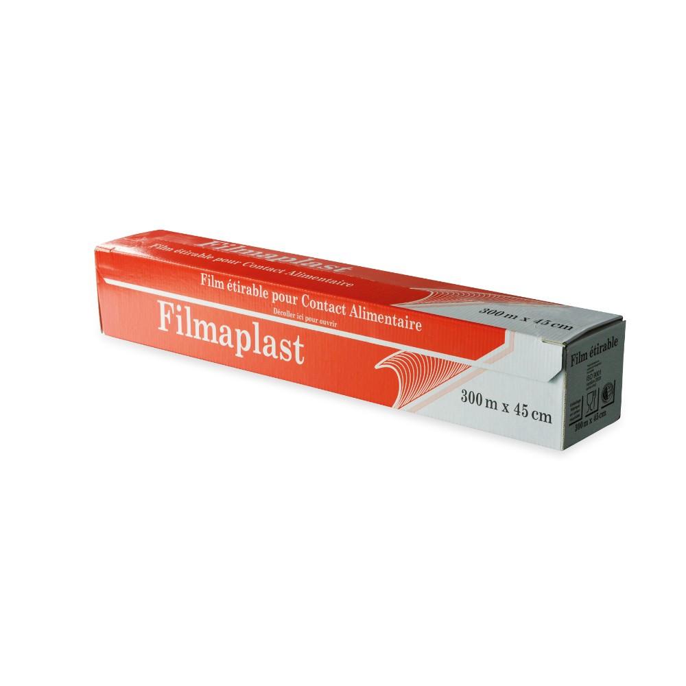 Films alimentaire étirable PVC - Boîte distributrice CARTON 300x0.45