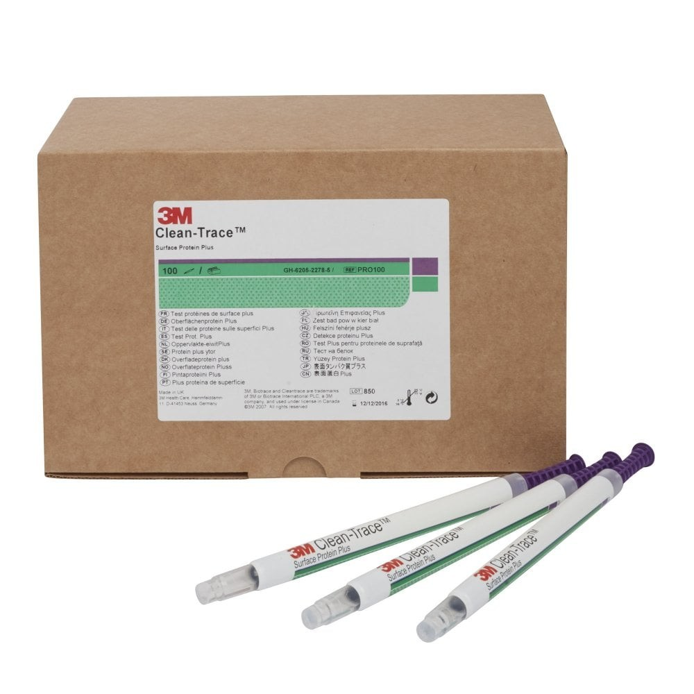 Tests Protéiniques Ecouvillon 3M™ Clean-Trace™ Surface Protéine Plus