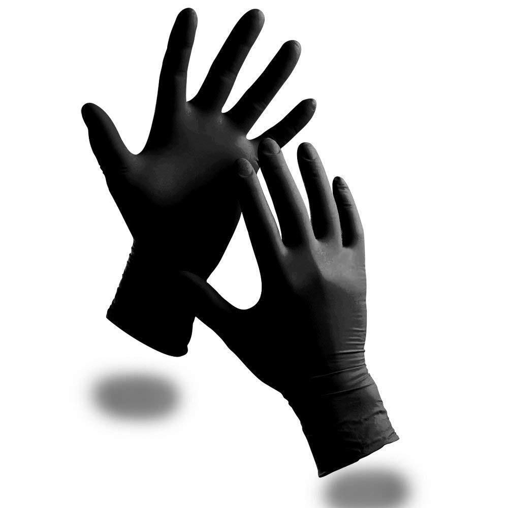 Gant nitrile Noir Boîte de 100