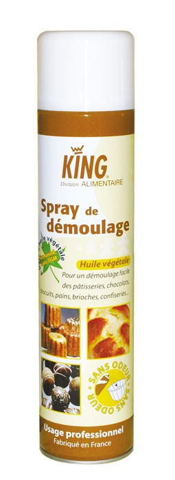 Spray de démoulage alimentaire KING - Aérosol 600ml - Carton de 12