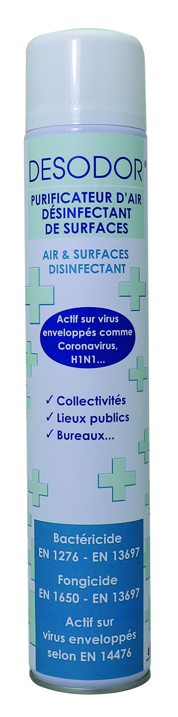 Aérosol désinfectant bactéricide U2 - Aérosol 750ml - Carton 12