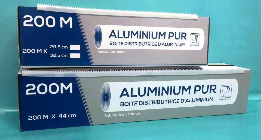 Rouleaux aluminium - Boîte distributrice 200mx325mm
