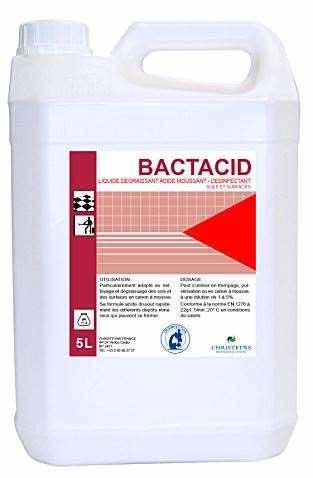 Bactacid dégraissant désinfectant acide