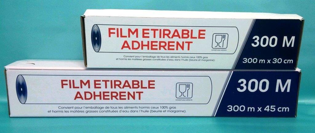 Films alimentaire étirable PVC - Boîte distributrice 300mx300mm
