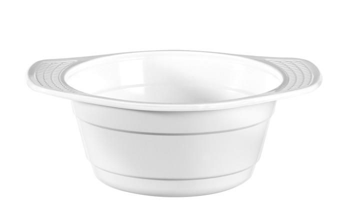 Bol à soupe blanc en plastique - PS colisage : 1000