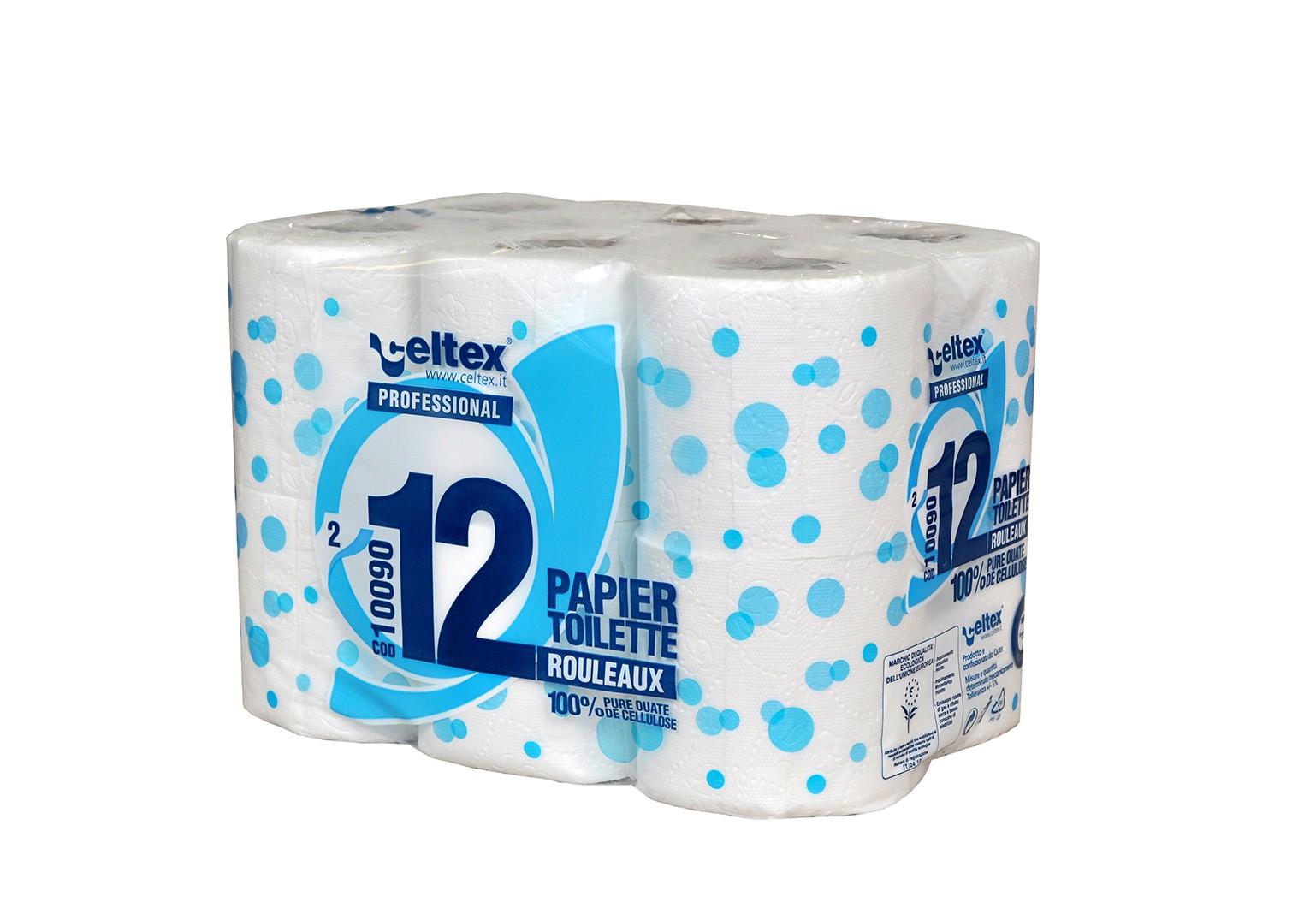 Papier toilette petits rouleaux blancs 2Pl 180 F - Colis de 96 - 8x12 rouleaux