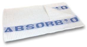 La Serpillière Gaufrée Blanche ABSORB'O   60x 100