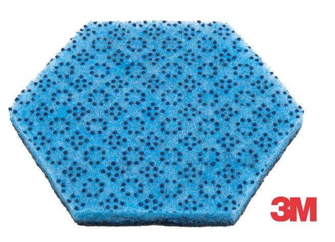 """Tampon Scotch-Brite™ 2000HEX, """" 2 en 1 """" Pour les surfaces délicates Carton de 15 Tampons"""