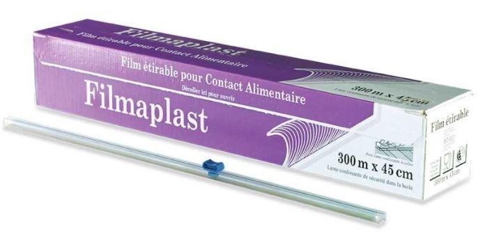 Films alimentaire étirable PVC - Boîte distributrice 300mx450mm avec système Zipcut inclus