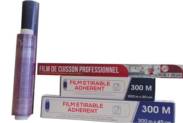 Films alimentaire étirable PVC - Recharge 300mx450mm