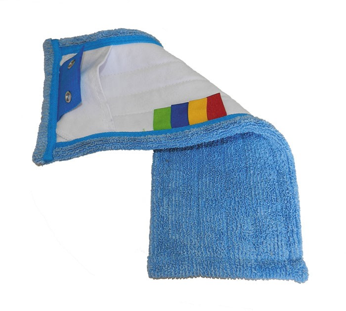 Frange de lavage microfibre à poches et à languettes