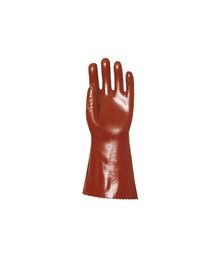 Gant PVC supérieur rouge x 10 paires