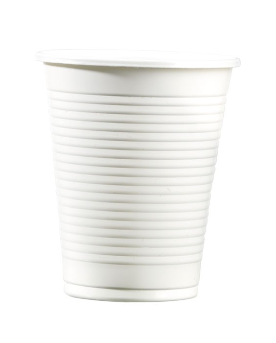 Gobelet blanc en plastique - PP colisage : 3000