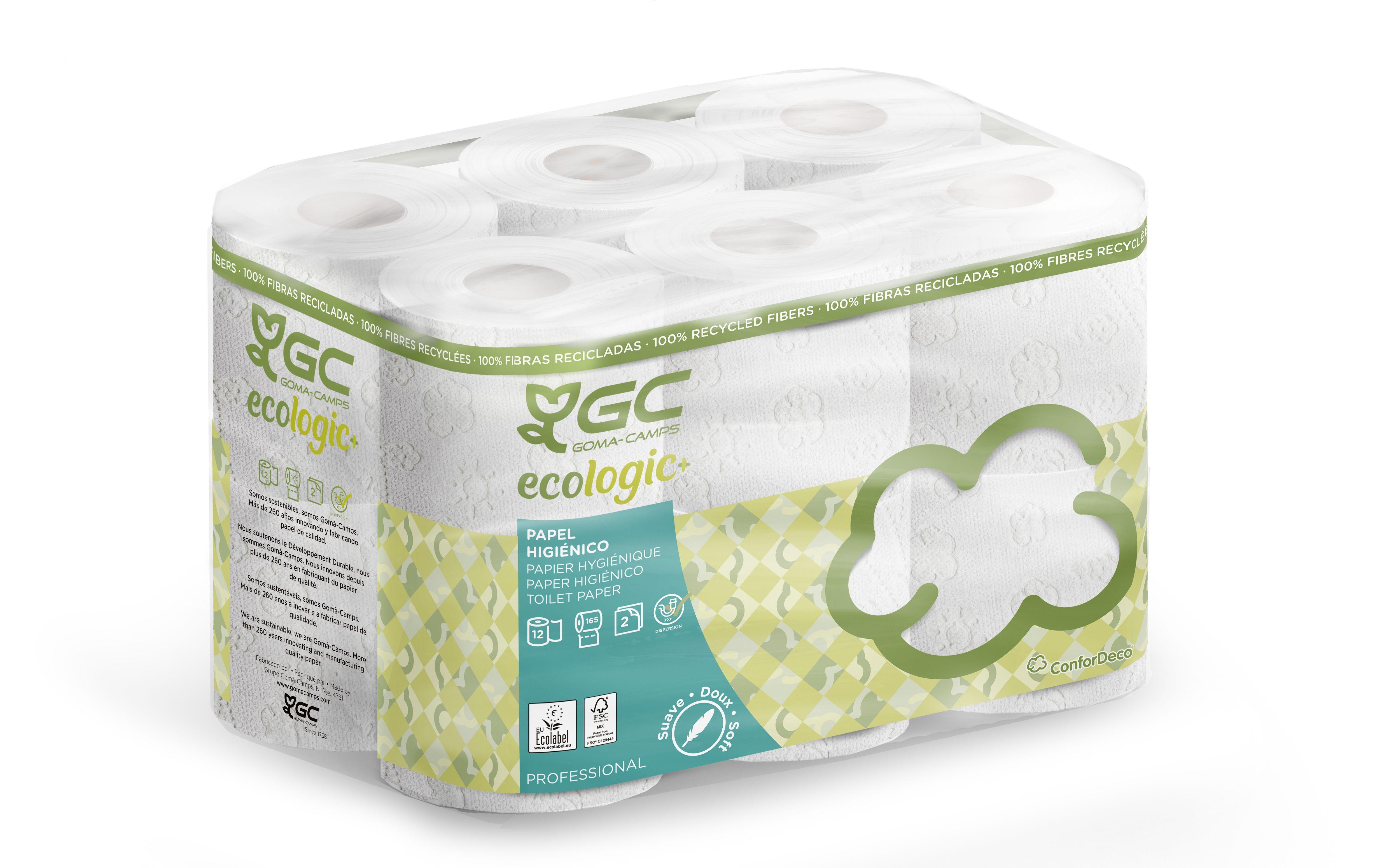 Papier toilette petits rouleaux blancs 2Pl 165 F - Colis de 96 - 8x12 rouleaux