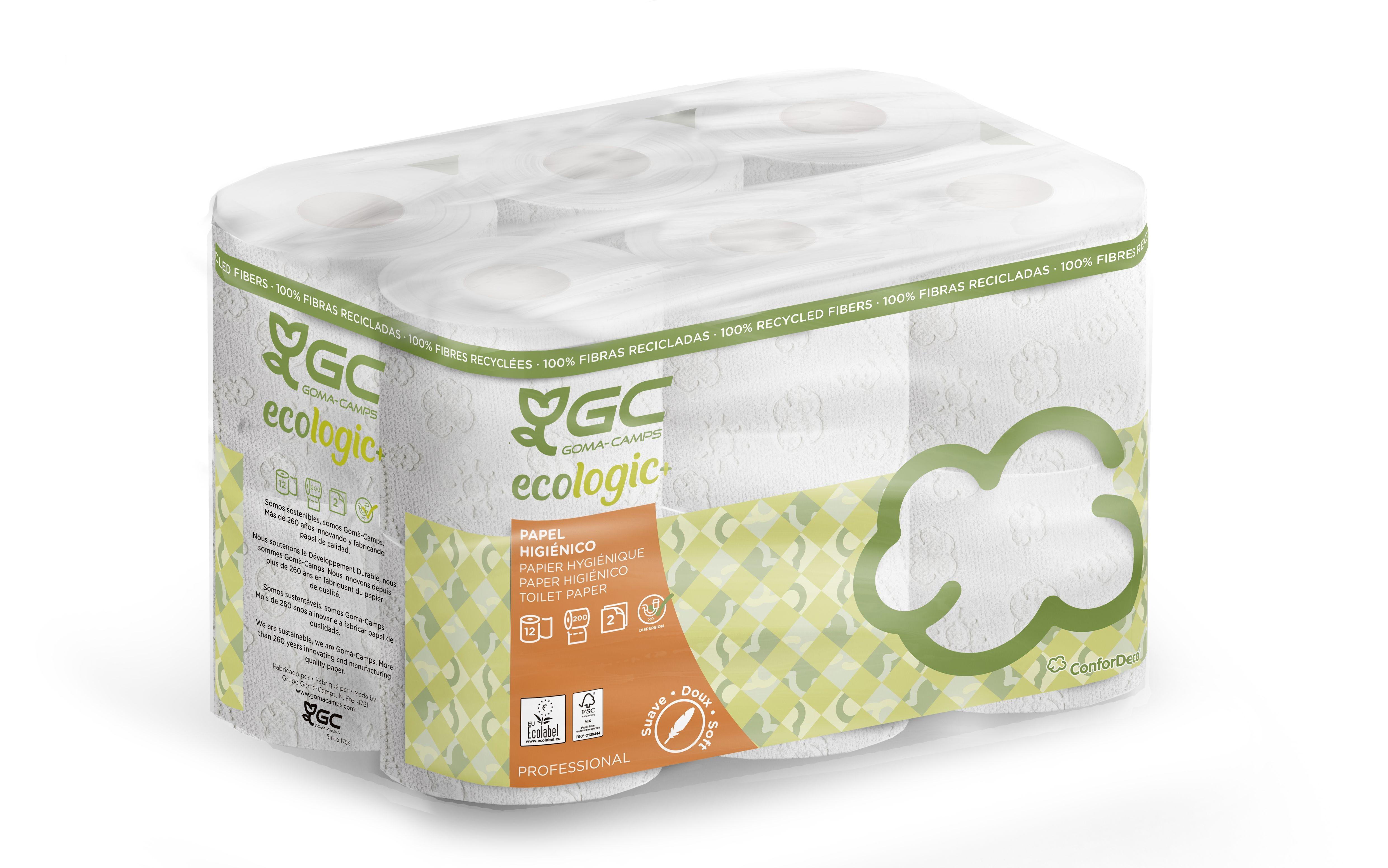 Papier toilette petits rouleaux blancs  2Pl blanc -  Colis 108 - 9x12 rouleaux