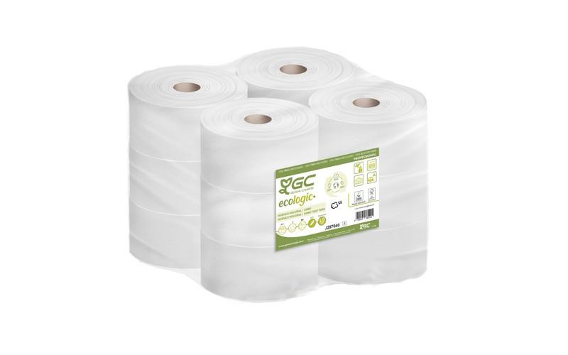 Papier Toilette Mini JUMBO 100% Recyclé ECOLOGIC x12 ECOLABEL