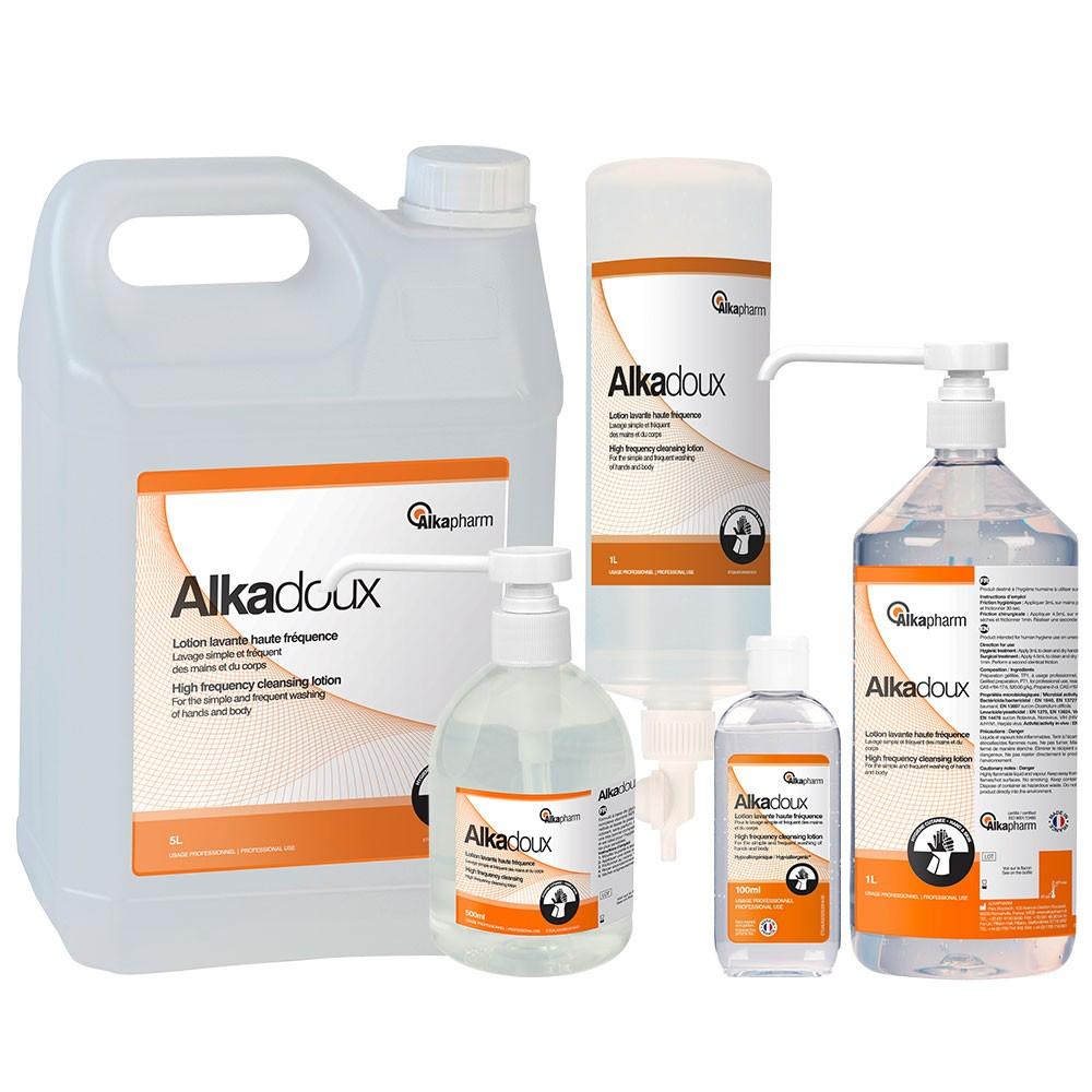 ALKADOUX Lotion lavante vitaminée haute fréquence - Flacon de 1 L Airless