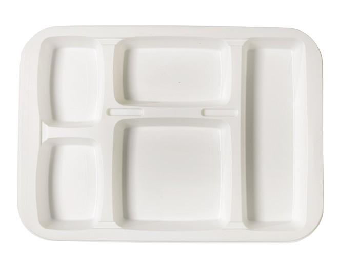 Plateau repas en plastique  - Colis : 8