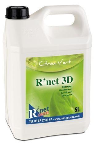 R'net 3D Citron vert.-Détergent désinfectant surodorant concentré - 5Lx2