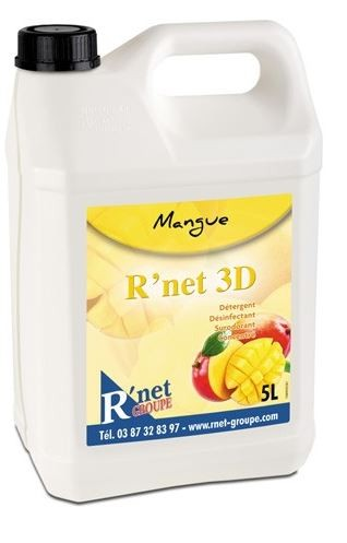 R'net 3D Mangue Détergent désinfectant surodorant concentré - 5Lx2