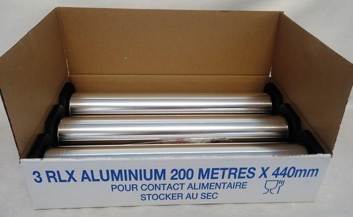 Rouleaux aluminium - Recharge 200mx440mm sous embouts