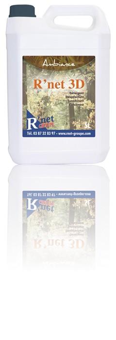 R'net 3D -Ambiance- Détergent désinfectant surodorant concentré - 5Lx2