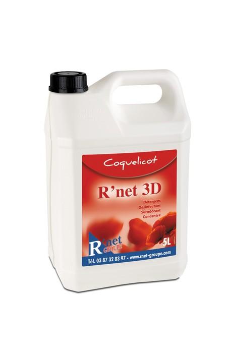 R'net 3D- Coquelicot- Détergent désinfectant surodorant concentré - 5Lx2
