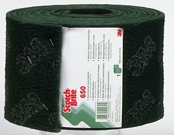 3M™ Scotch-Brite™ Rouleau vert pour surfaces normales rouleau de 5 metres