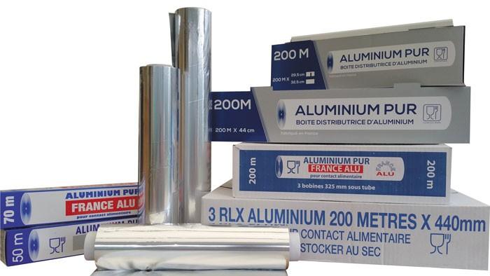 Rouleaux aluminium - Recharge 200mx295mm sous embouts
