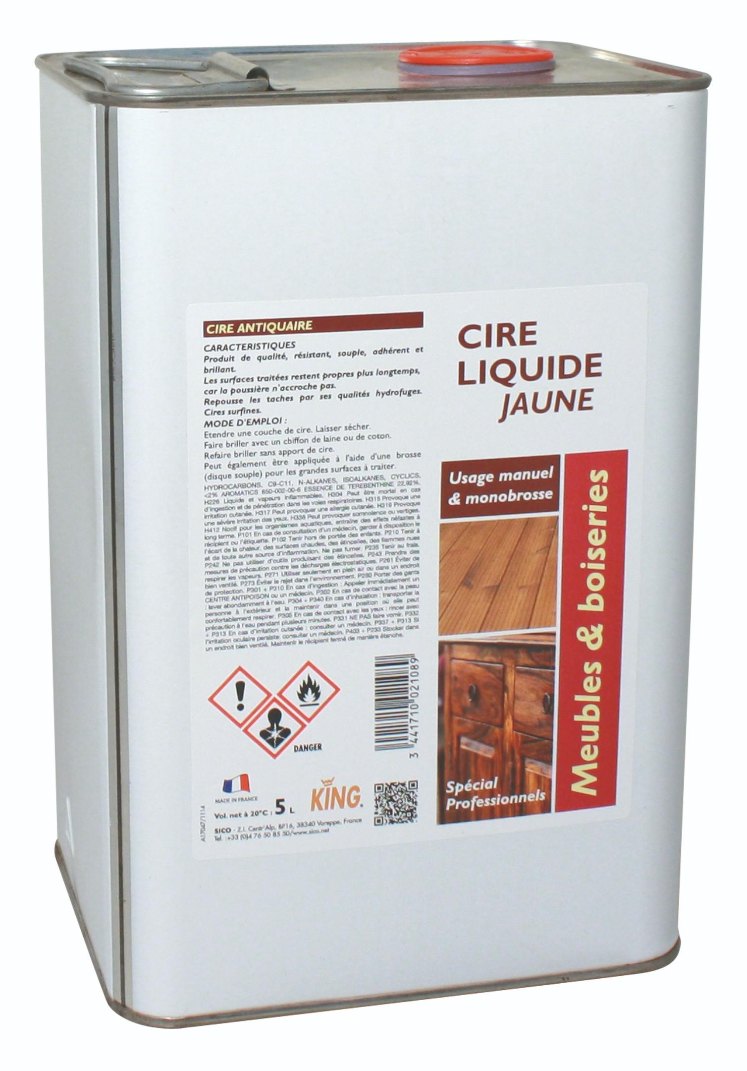 CIRE LIQUIDE JAUNE 5L KING