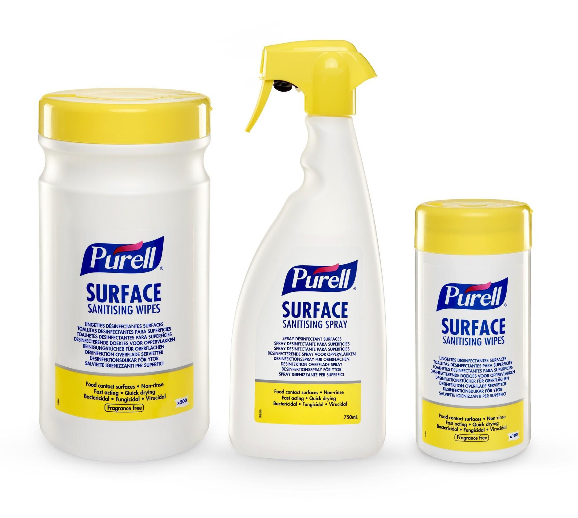 PURELL ® Spray et Lingettes Désinfectant, Désinfectants Surfaces
