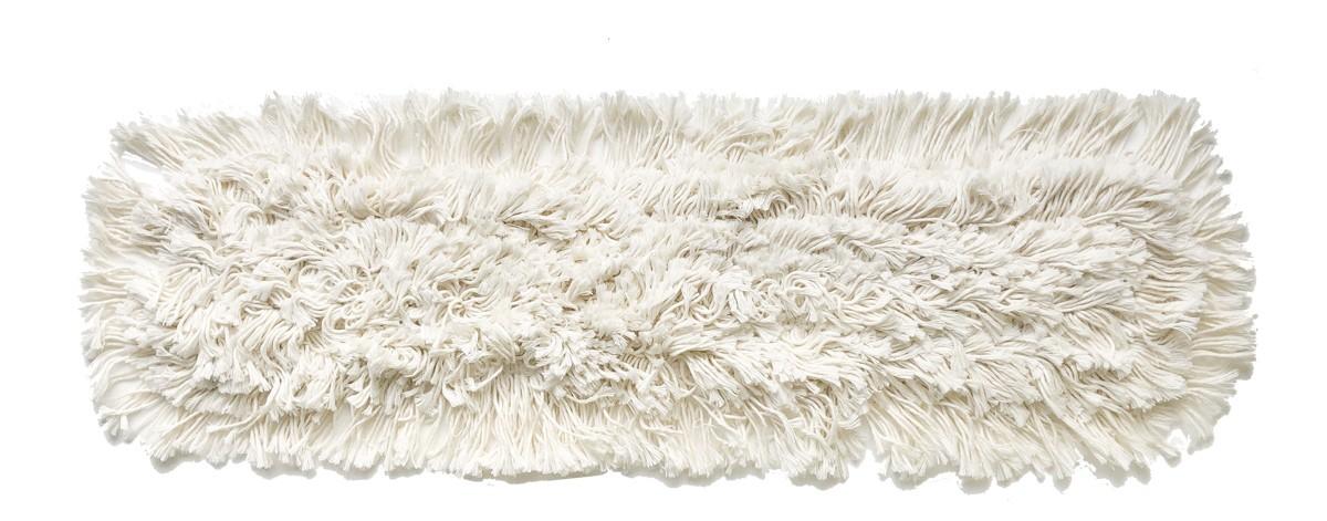 Frange dépoussiérage coton à poches pour balai ciseaux 2x100cm