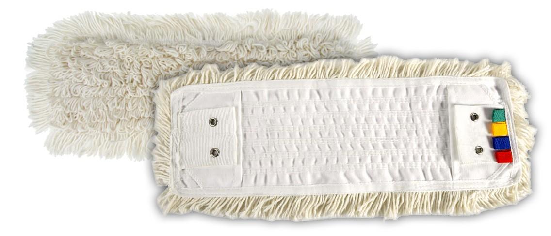 Frange Coton Classic poche/languette 2 œillets 40cm