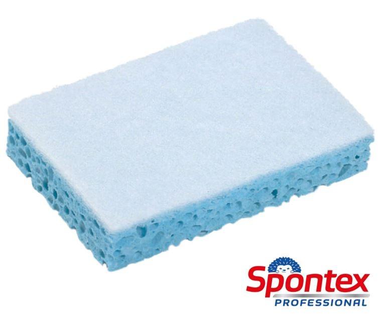 Sponrex 79 Tampon blanc sur éponge bleue Spontex 10 pièces/sachet