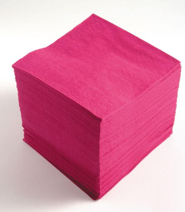 Serviettes couleurs unies ouate