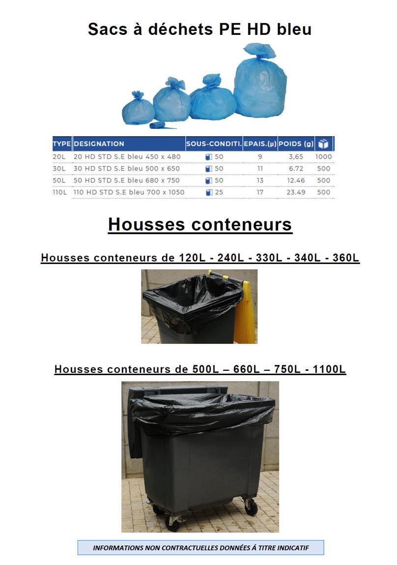 Tous les sacs à déchets haute densité