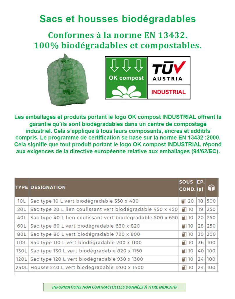 Tous les sacs à déchets biodégradables